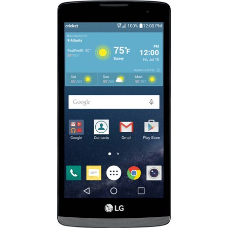 cricket wireless lg risio 8gb prepaid smartphone gray. Black Bedroom Furniture Sets. Home Design Ideas