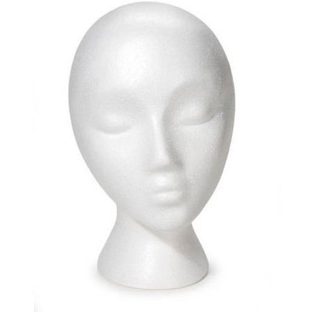 Styrofoam Wig Head (Female)](Styrofoam Hats)