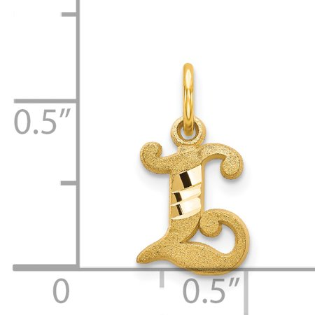 14K Yellow Gold Initial L Charm - image 1 of 2