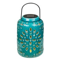 Mainstays Starburst Solar Powered Outdoor Ceramic Lantern