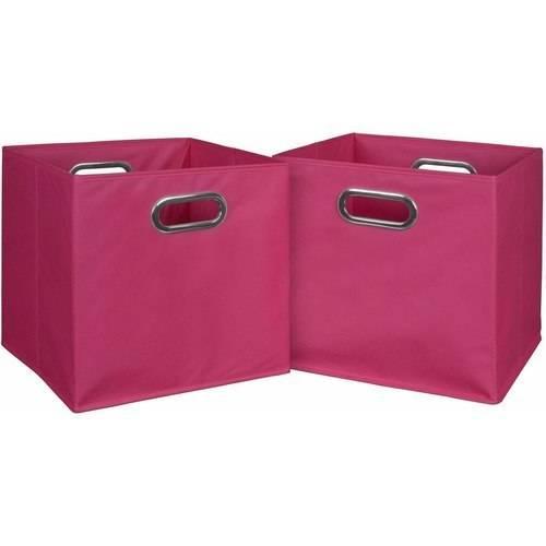 Niche Cubo Foldable Fabric Storage Bin, Set of 2, Multiple Colors by Regency