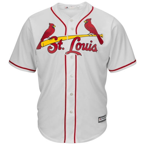 St. Louis Cardinals Majestic Official Cool Base Jersey - Cream