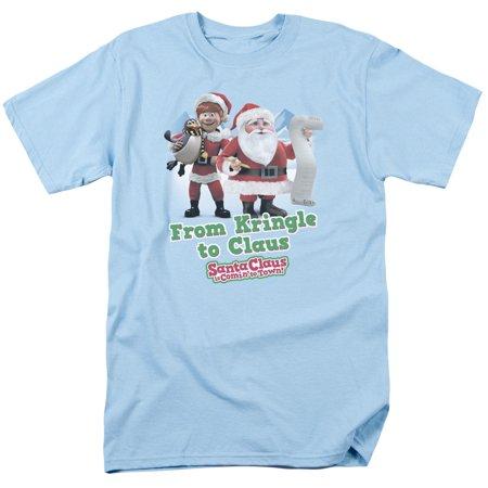 Trevco SANTA CLAUS KRINGLE TO CLAUS Light Blue Adult Unisex - Blue Santa