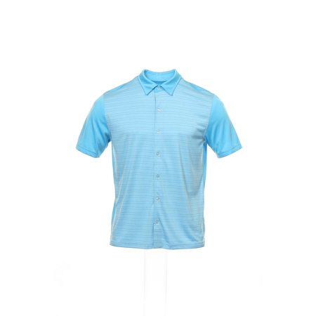 John Ashford Men's Light Blue Striped Polo Shirt (Ashford Stripes)