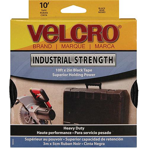 "Velcro Sticky Back Industrial Strength Tape, 2"" x 10', Black"