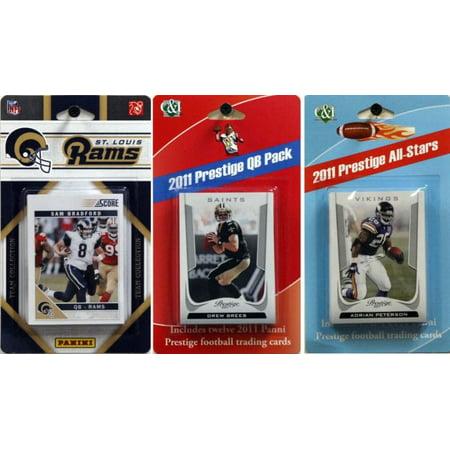 NFL St. Louis Rams Licensed 2011 Score Team Set With Twelve Card 2011 Prestige All-Star and Quarterback Set