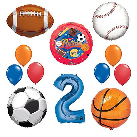 The Ultimate Sports Theme 2nd Birthday Party Supplies and Balloon Decorating - Football Themed Birthday Party