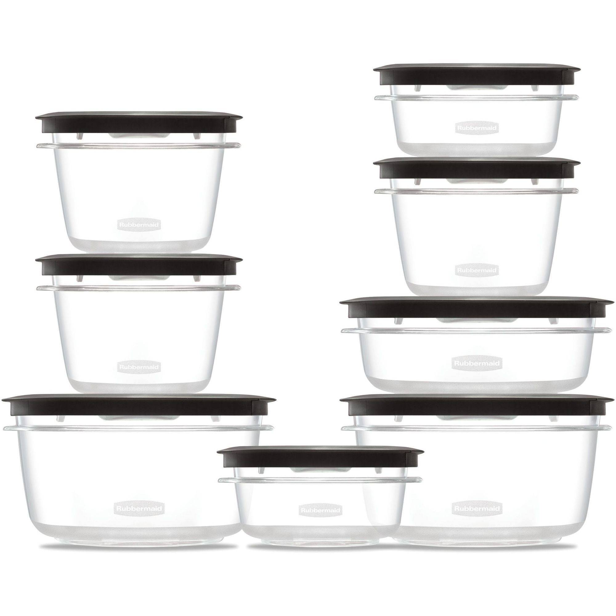 Rubbermaid Premier Food Storage Container, 16 Piece Set, Grey   Walmart.com