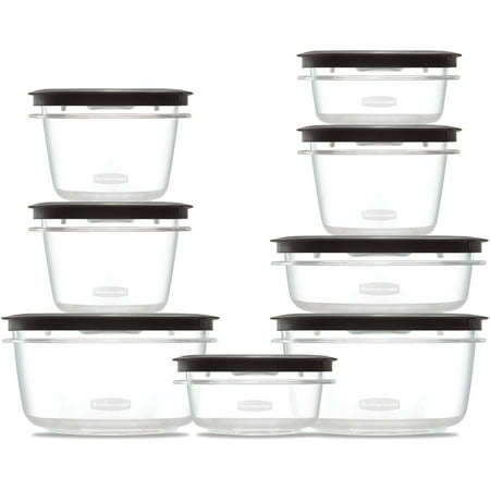 Fold Lcd - Rubbermaid Premier Food Storage Containers with Easy Find Lids, 16-Piece Set
