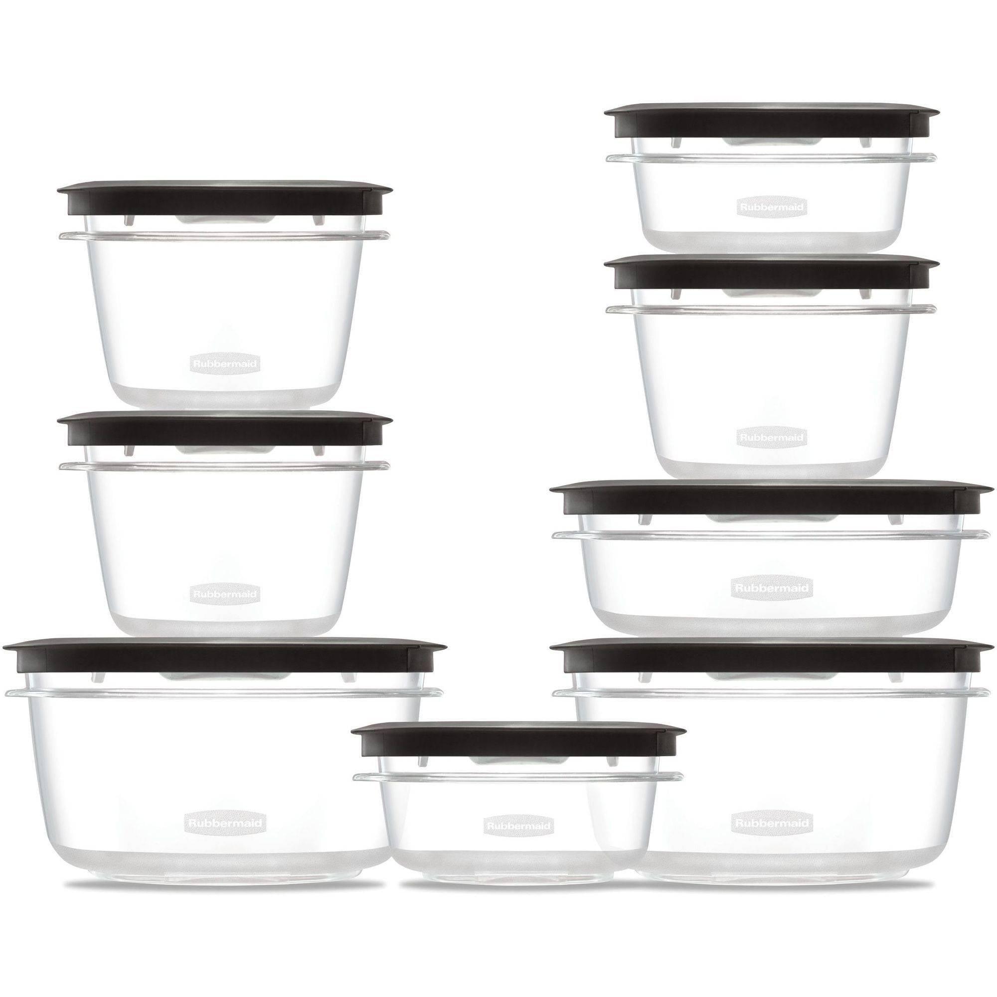 Rubbermaid Premier Food Storage Container, 16-Piece Set