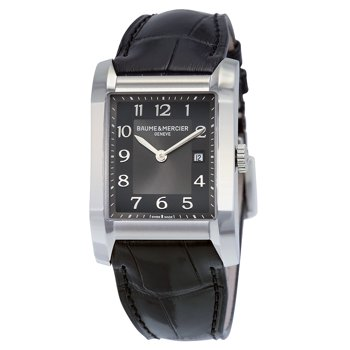 Baume and Mercier Black Dial Leather Strap Womens Watch