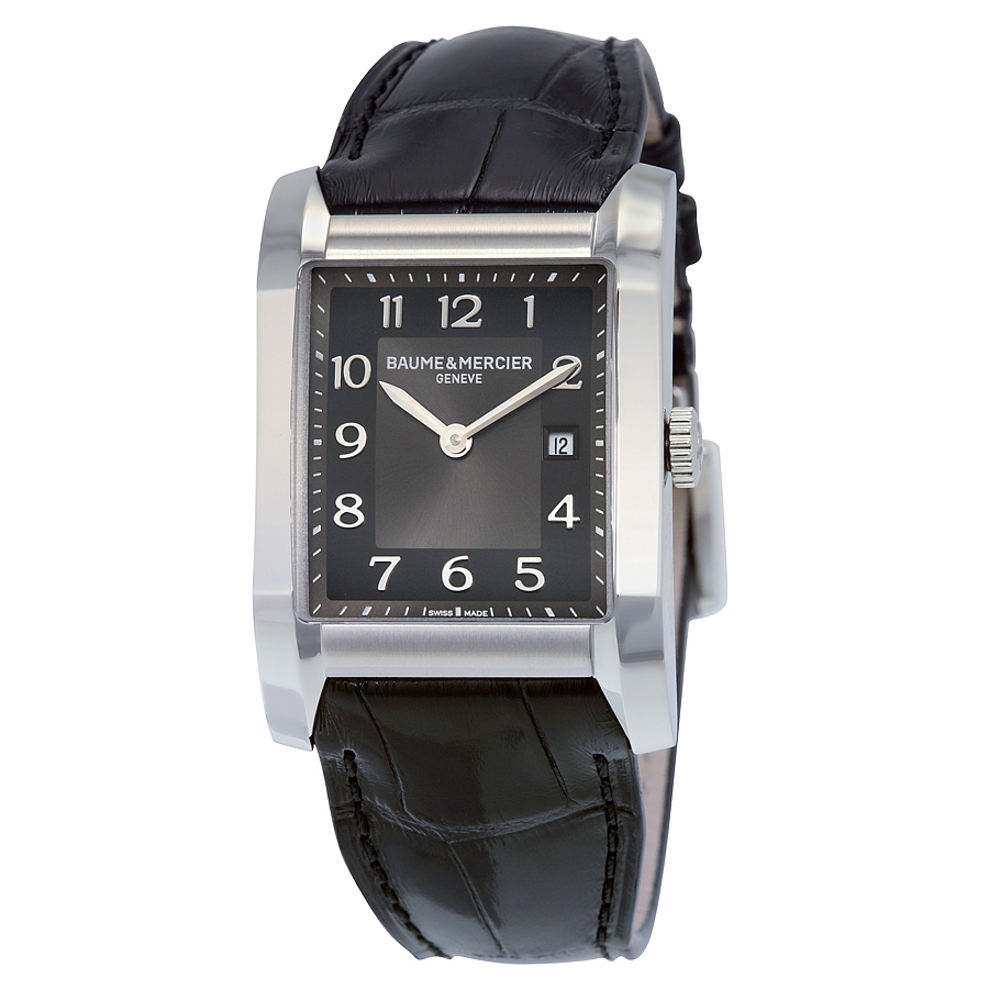 BAUME & MERCIER Black Dial Leather Strap Ladies Watch 10019