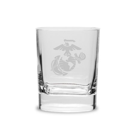 US Marines 11.75 oz Deep Etched Double Old Fashion -