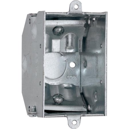 Raco 473 Gangable Switch Box, 1 Gang, 10.5 cu-in x 3 in L x 2 in W x 2-1/4 in D