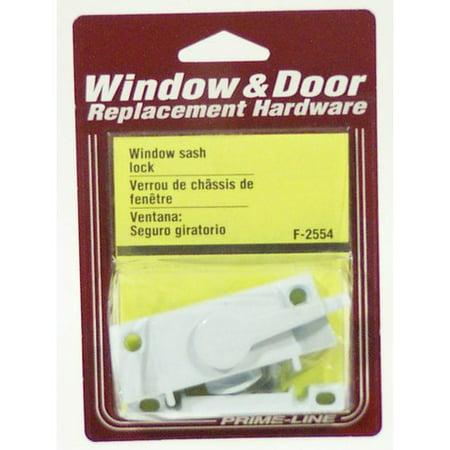 Prime Line Products F2554 White Window Sash Lock