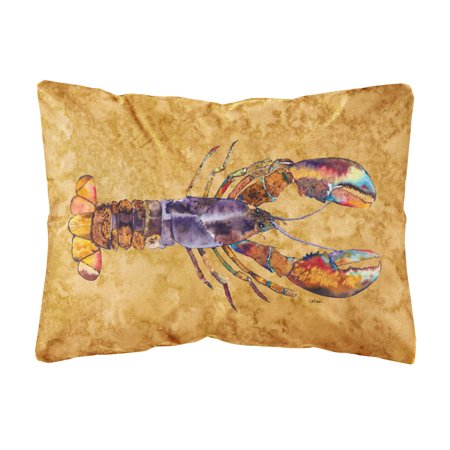Lobster Canvas Fabric Decorative Pillow
