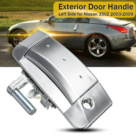 Left Driver Exterior Outer Door Handle 80607-CD41E For Nissan 350Z 2003-2009 (Nissan 350z Driver Door Handle)