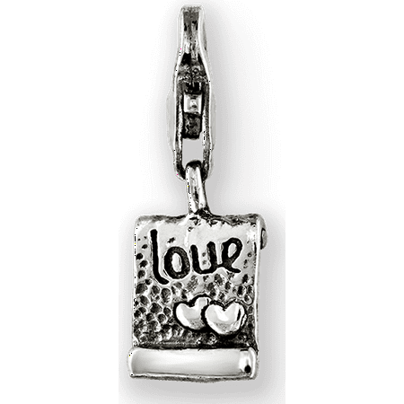 925 Sterling Silver Charm For Bracelet Love Note Click On Bead Click-on Fine Jewelry Gifts For Women For Her - image 3 of 8