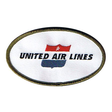 United Airline Retro Patch  Iron On Applique