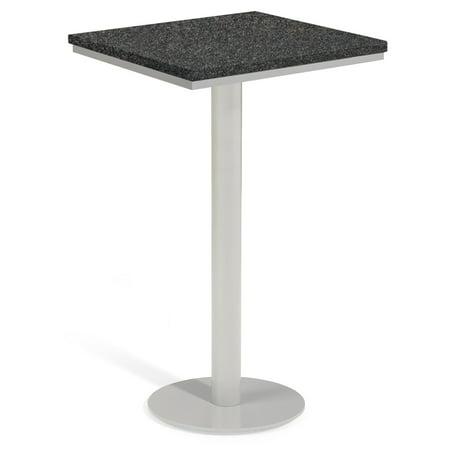 Oxford Garden Travira Lite-Core Square Outdoor Bar Table