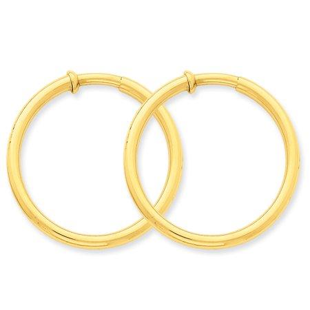 14k Non Pierced Hoop Earrings X99