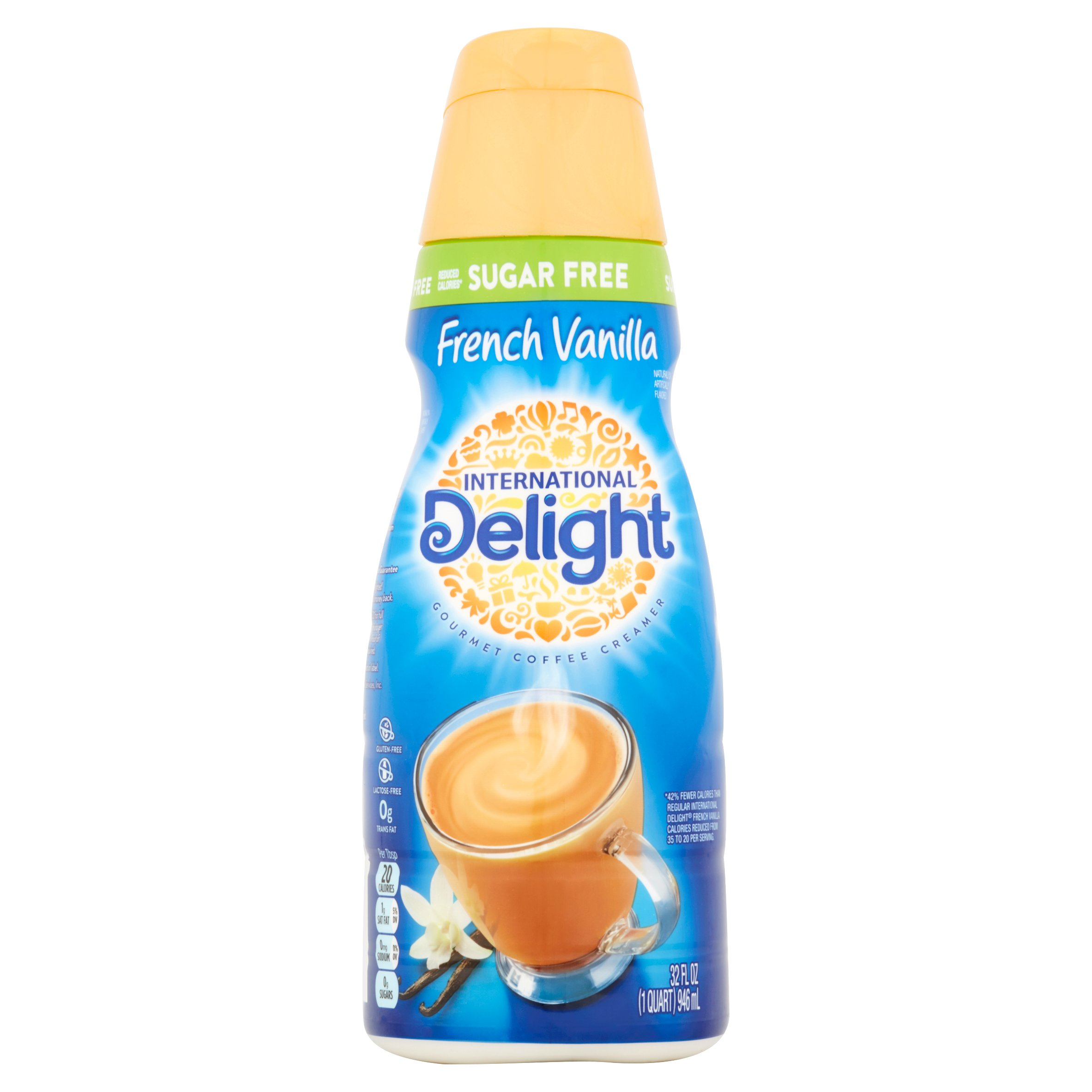 International Delight Sugar Free French Vanilla Gourmet Coffee Creamer, 32 oz