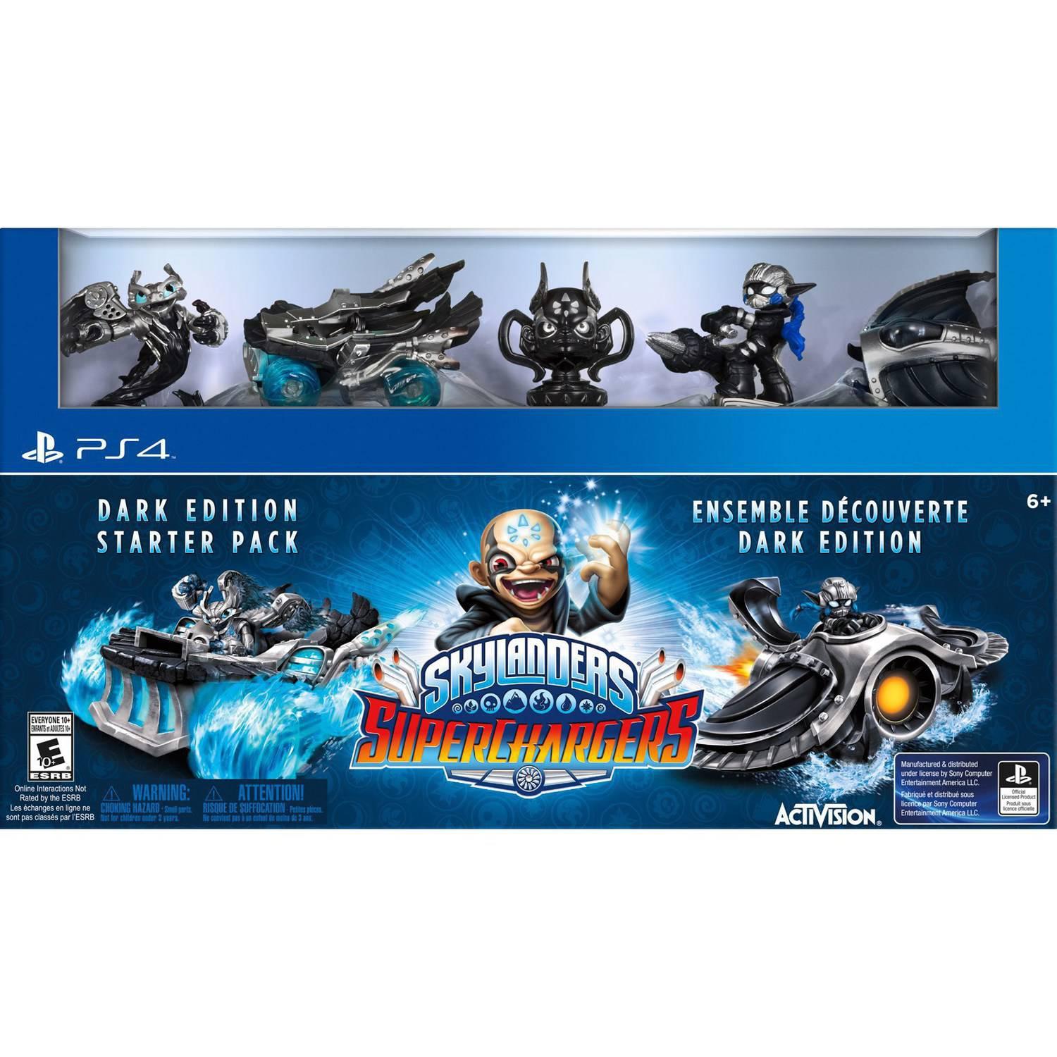 Skylanders Superchargers Dark Edition Starter Kit (Playstation 4) by Vicarious Visions