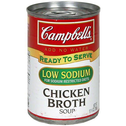 Campbell's Low Salt Chicken Broth, 10.5 oz (Pack of 12)