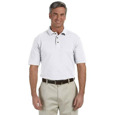 Harriton M200 Mens Classic Polo Shirt - White - 5X-Large