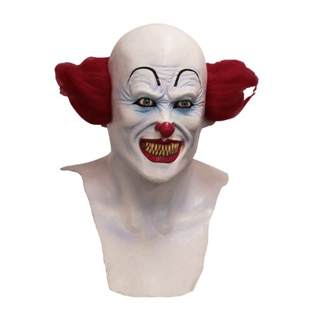 Scary Clown Mask Adult Halloween Accessory (Non Scary Halloween Games)