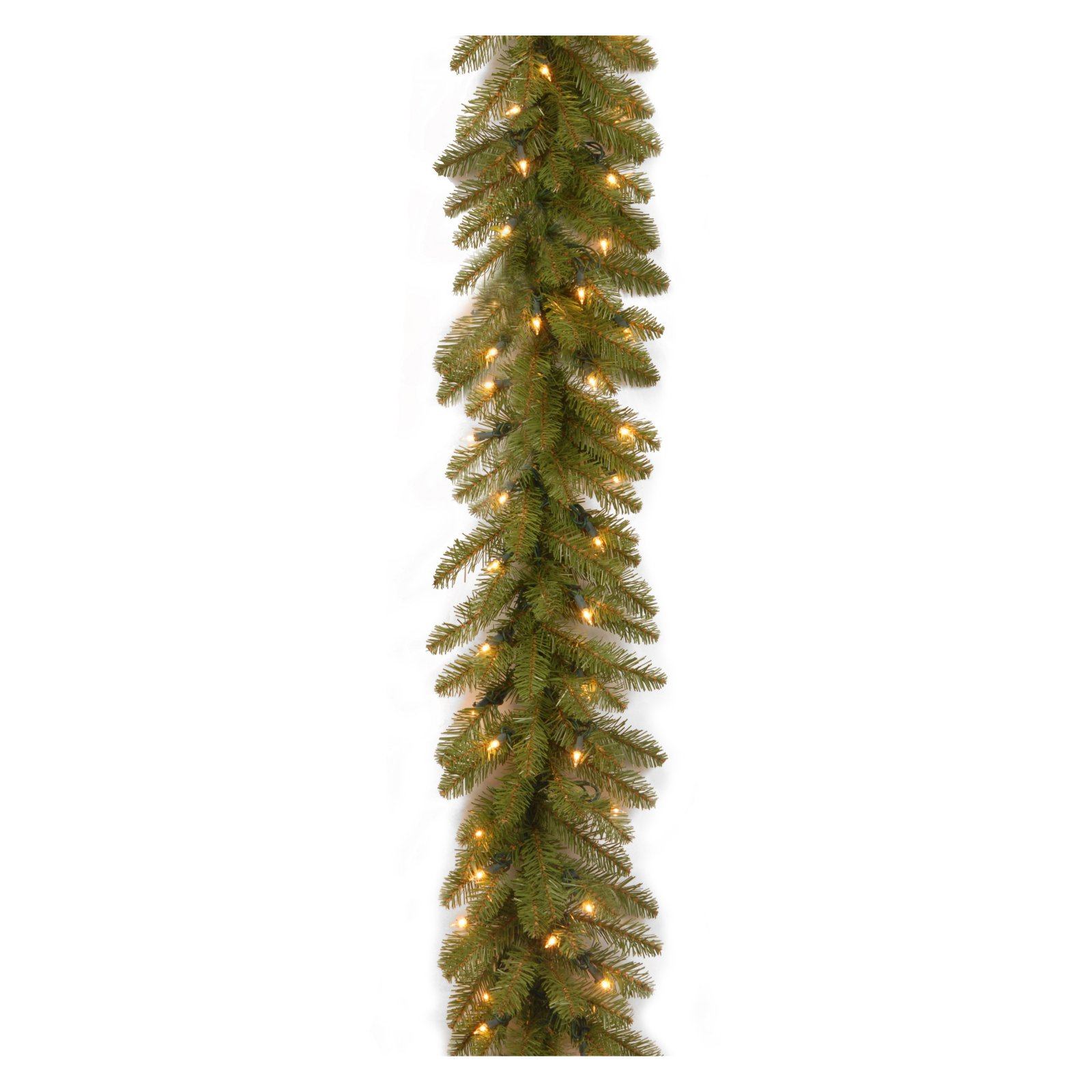 9' Dunhill Fir Garland with Clear Lights