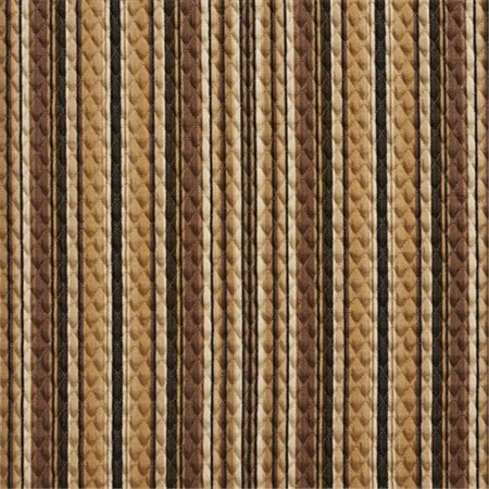 Designer Fabrics A351 52 in. Wide Brown And Beige Matelasse Quilted Striped Upholstery Fabric