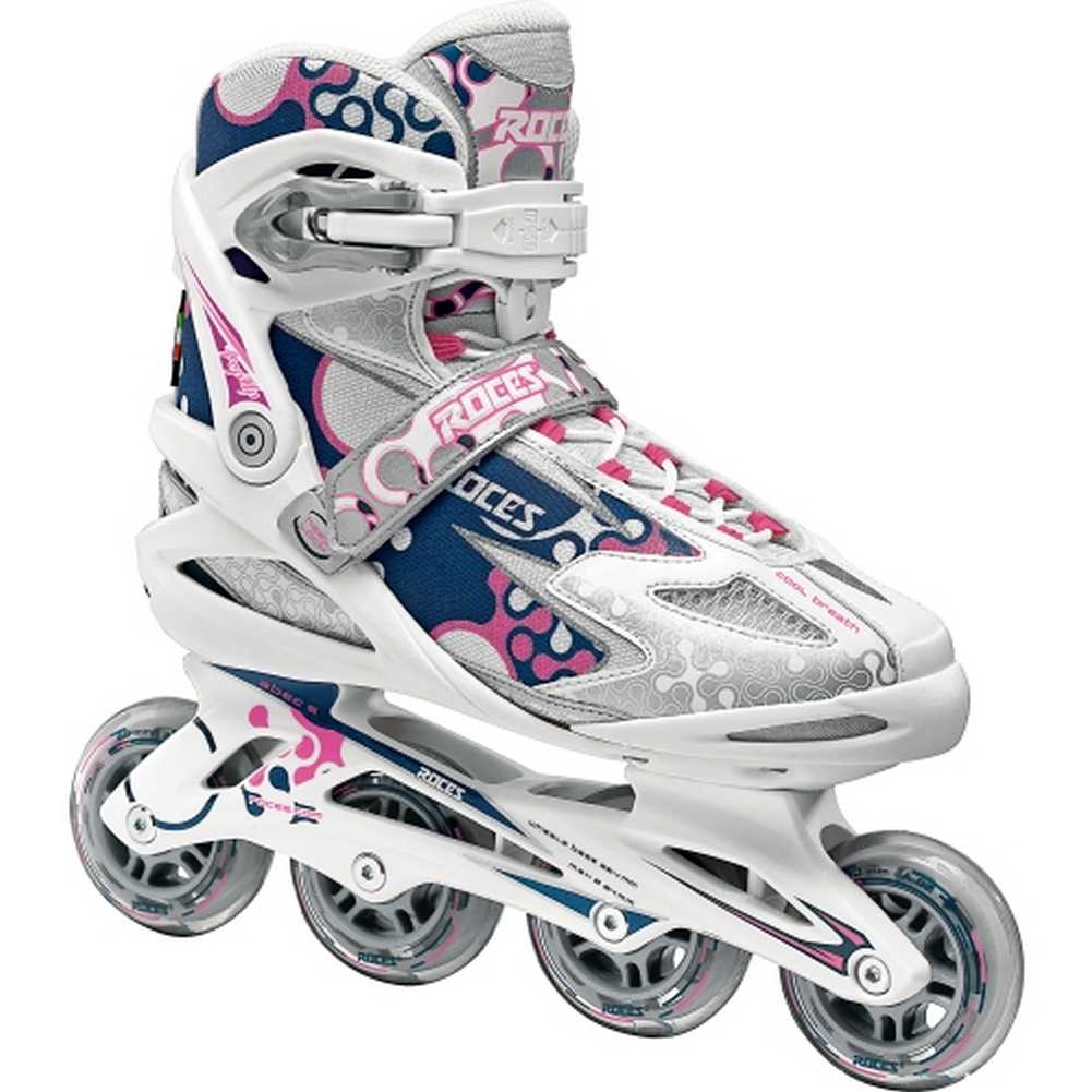 Roces Women's Pop Up Sporty Inline Skates, White/Navy/Pink. 400773-00001-10