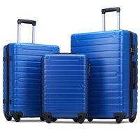 Merax Travelhouse 3 Piece Hardside Luggage Set