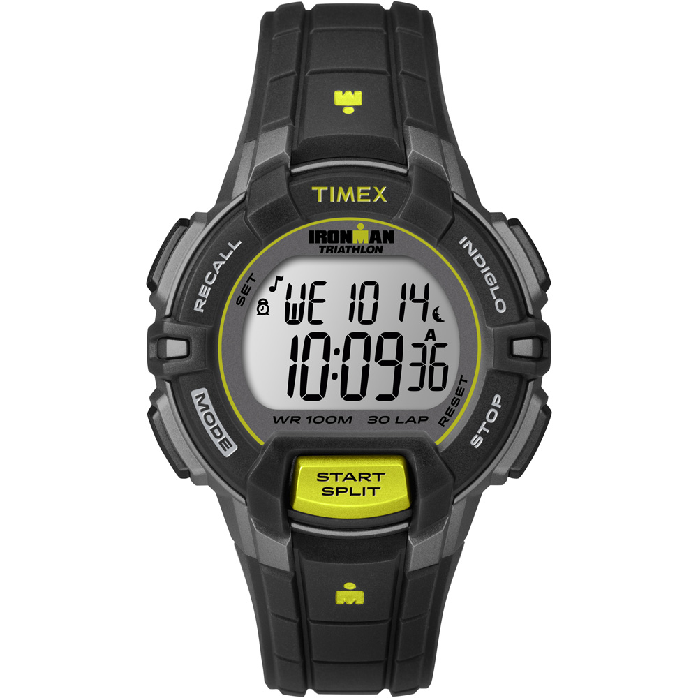 TIMEX IRONMAN 30 LAP RUGGED MID SIZE BLACK LIME WATCH by Timex