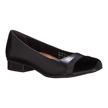 - Women's Clarks Keesha Rosa Slip-On Black Smooth with Lightly Milled Leather 14 D
