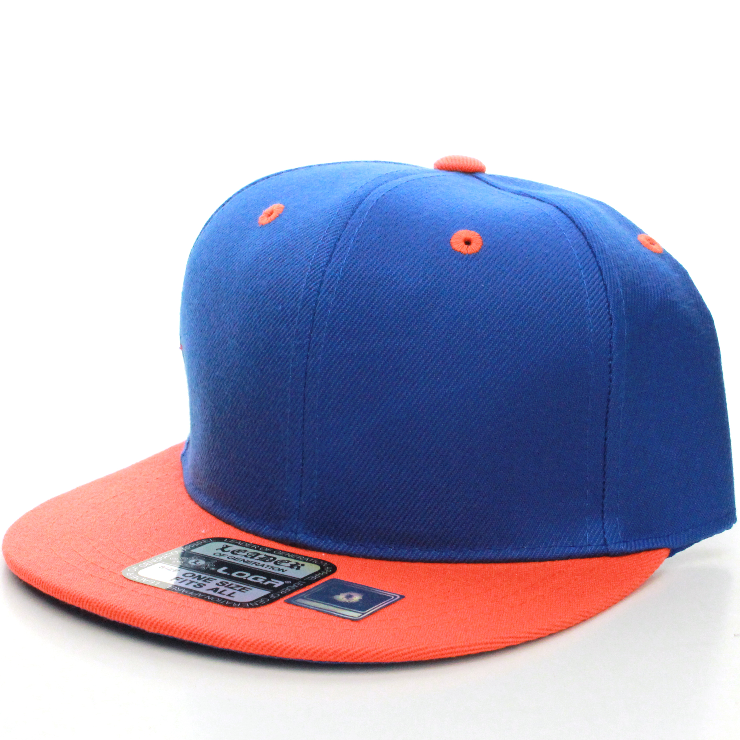 Classic Flat Bill Visor Blank Snapback Hat Cap with Adjustable Snaps