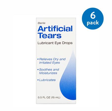 (6 Pack) Sterile Artificial Tears Lubricant Eye Drops, 0.5 fl oz