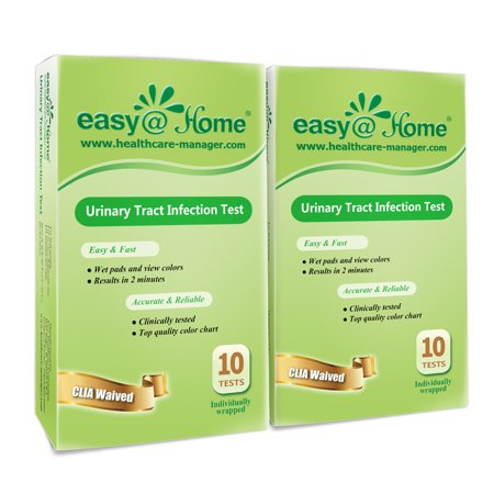 Easy@Home Urinary Tract Infection UTI Test Strips, Monitor Bladder by  Testing Urine, 20 tests-10 Pouches/Box-FDA Approved for Over the  Counter/OTC