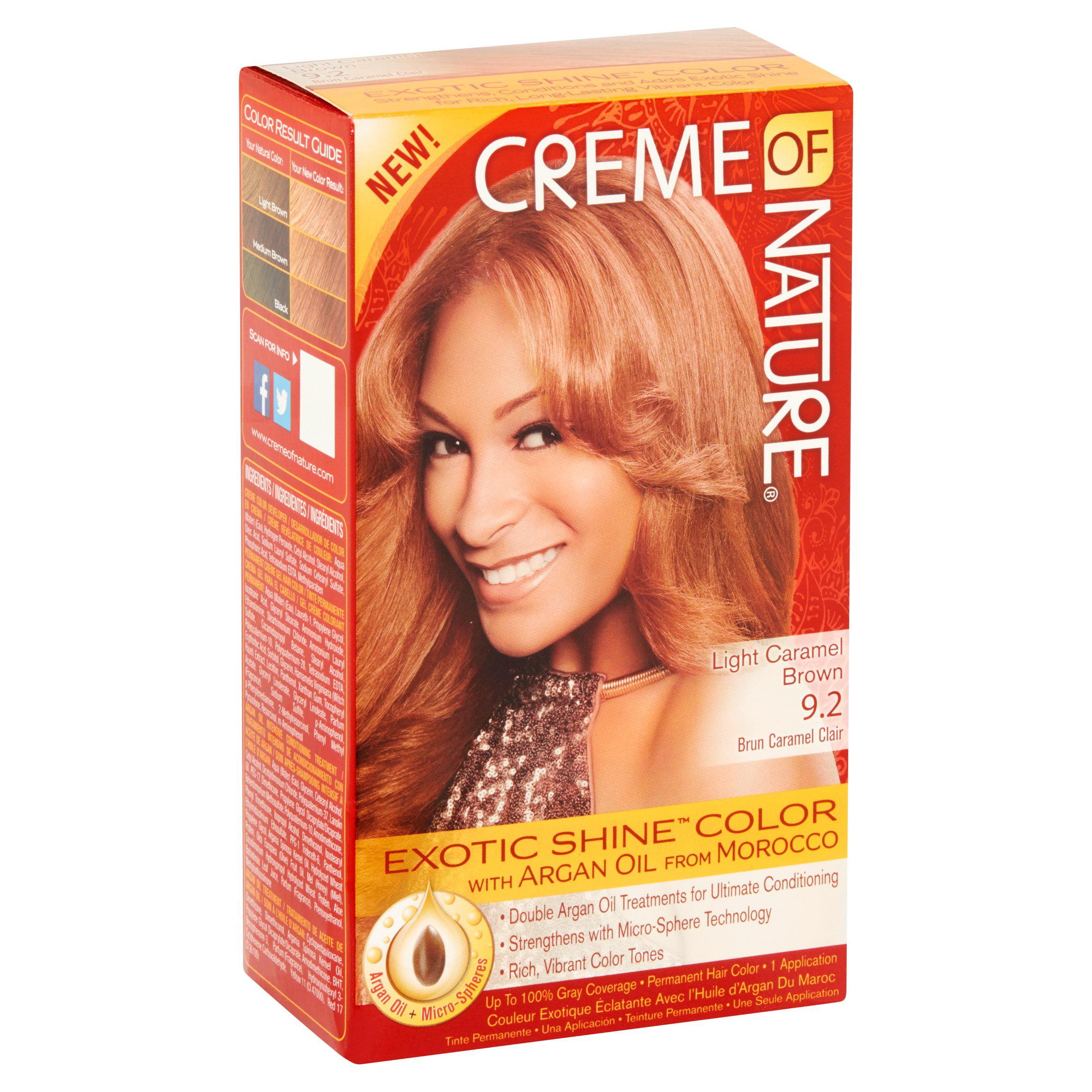 Creme Of Nature Light Caramel Brown 92 Brun Caramel Clair Permanent