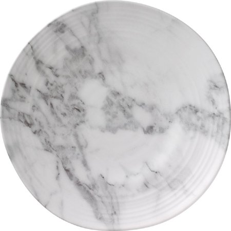 "Merritt 10"" Round Salad Plate White Marble"