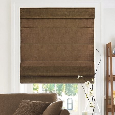 Chicology Cordless Roman Shades, Soft Fabric Window Blind, Belgian Chocolate (Privacy & Light Filtering)-23