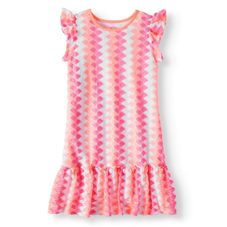 Knit Lace Peplum Hem Dress (Little Girls, Big Girls & Big Girls Plus) (Girls Knit Dresses)