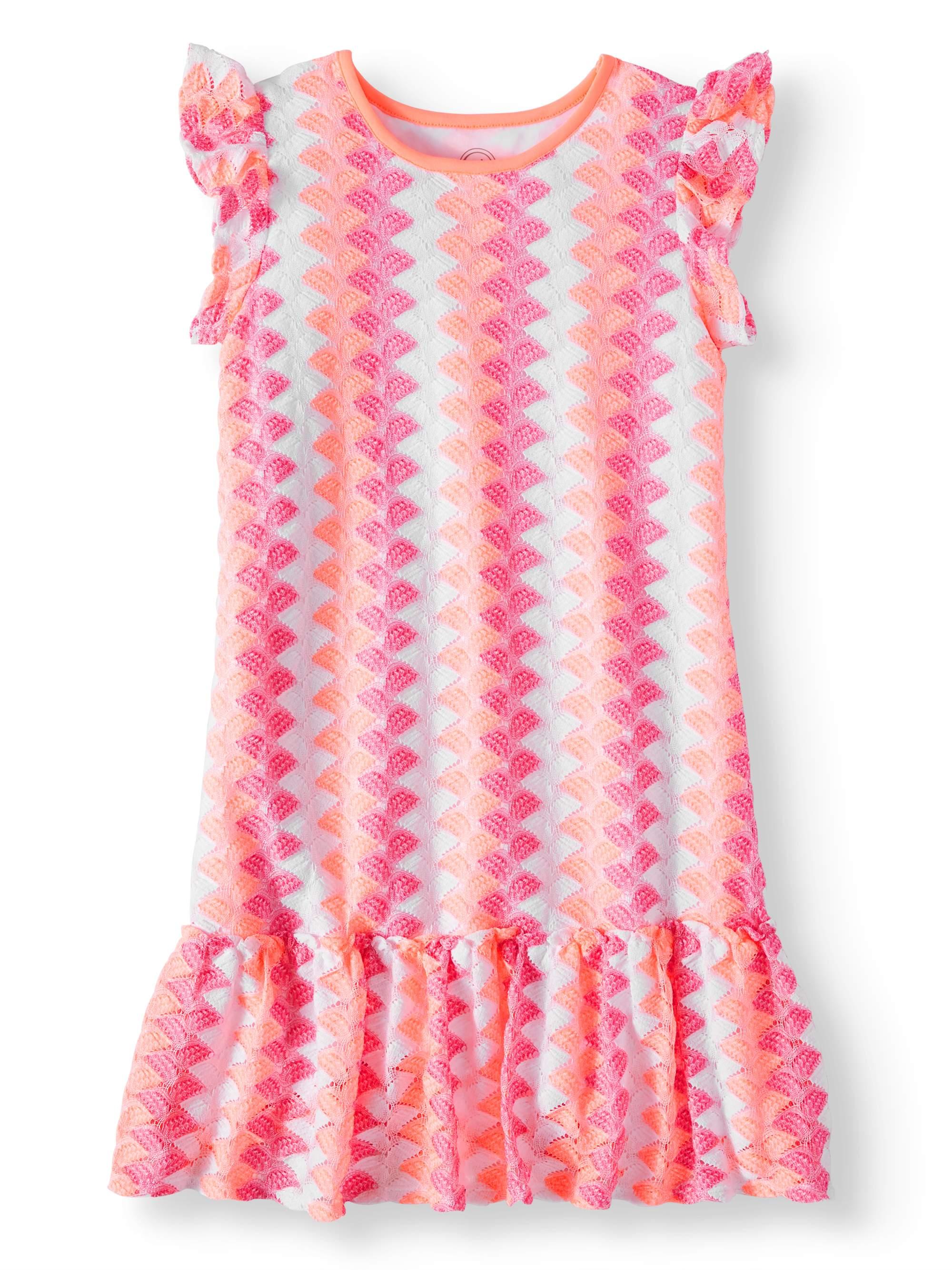 Knit Lace Peplum Hem Dress (Little Girls, Big Girls & Big Girls Plus)