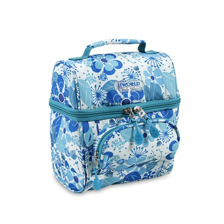 Blue Passion Vine - J World Corey Lunch Bag, Blue Vine