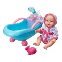 """My Sweet Love 14"""" Baby Doll with Bathtub, 3 Pieces"""