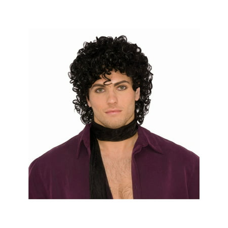 Halloween Rock Royalty Black Wig - Jazz Rock Nice Halloween