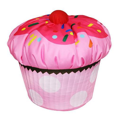 ***DISCONTINUED*** Komfy Kings Toddler Cupcake Shape Bean Bag - Pink Polyester