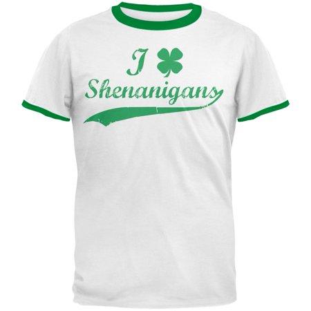 St Patricks Day Shamrock Shenanigans Mens Ringer T - Shamrock Ringer