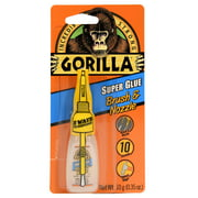Gorilla Super Glue Brush & Nozzle, 10g - 3 Pack
